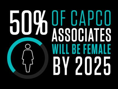 50% of Capco associates will be female by 2025