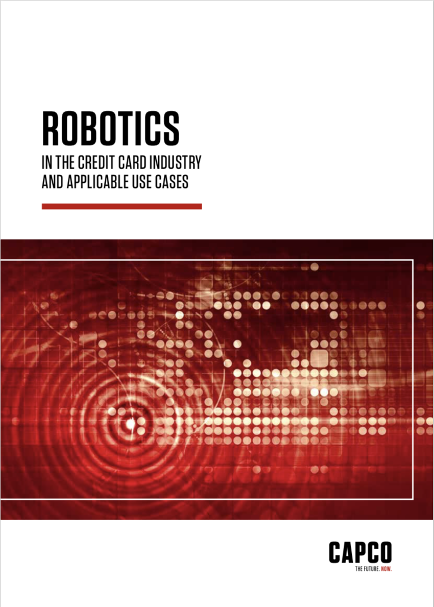 Robotics in the credit card industry