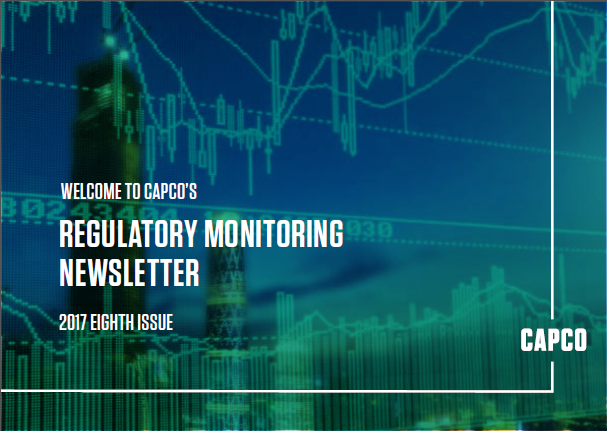 Regulatory Monitoring Newsletter Issue Eight 2017